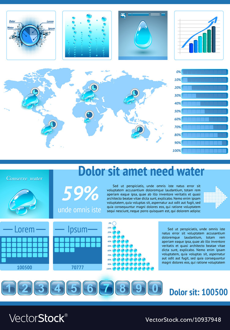 Save Water infographics Information Graphics