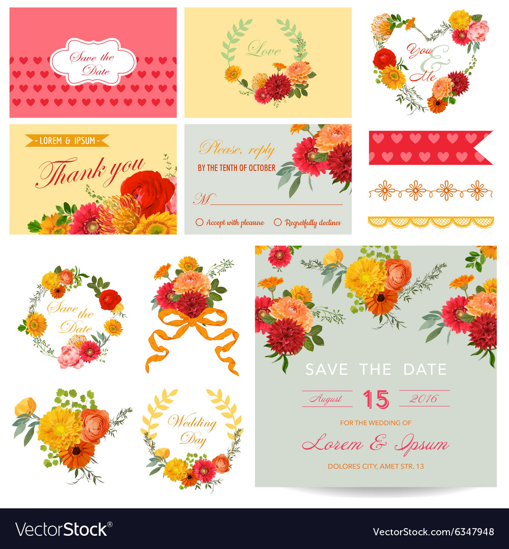 Scrapbook Design Elements - Wedding Invitation