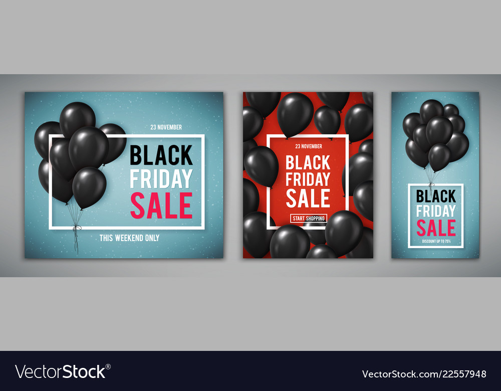 Set banners for black friday sale