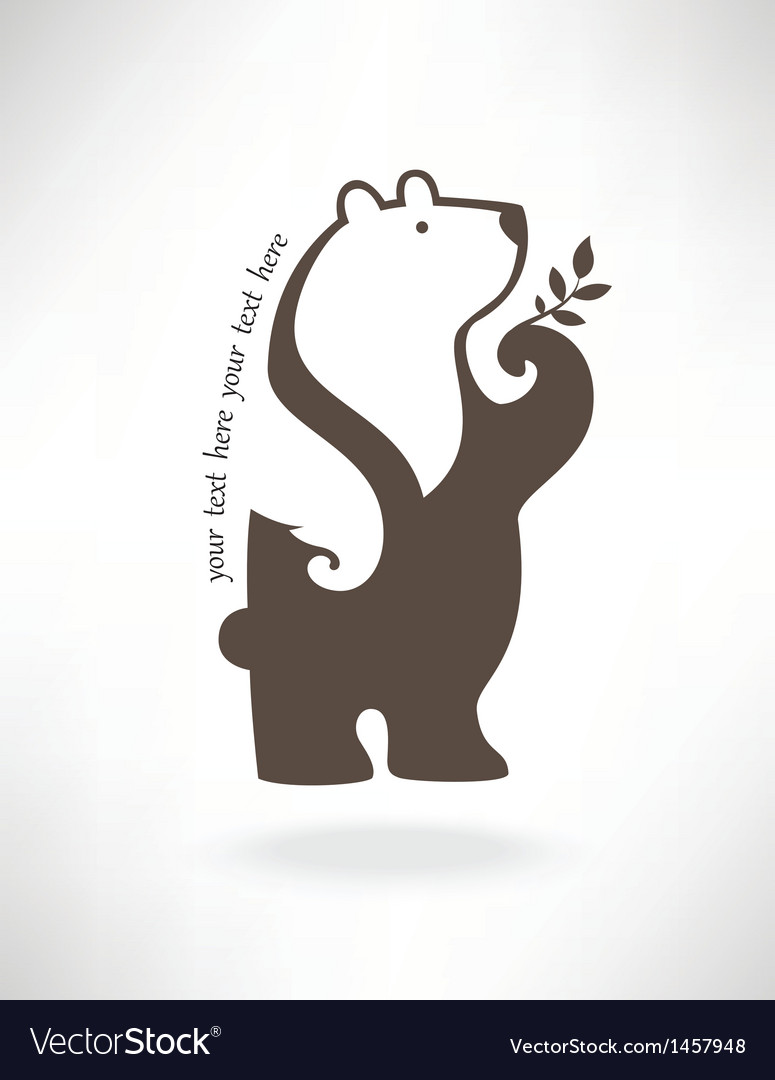 Standing bear in symbol style