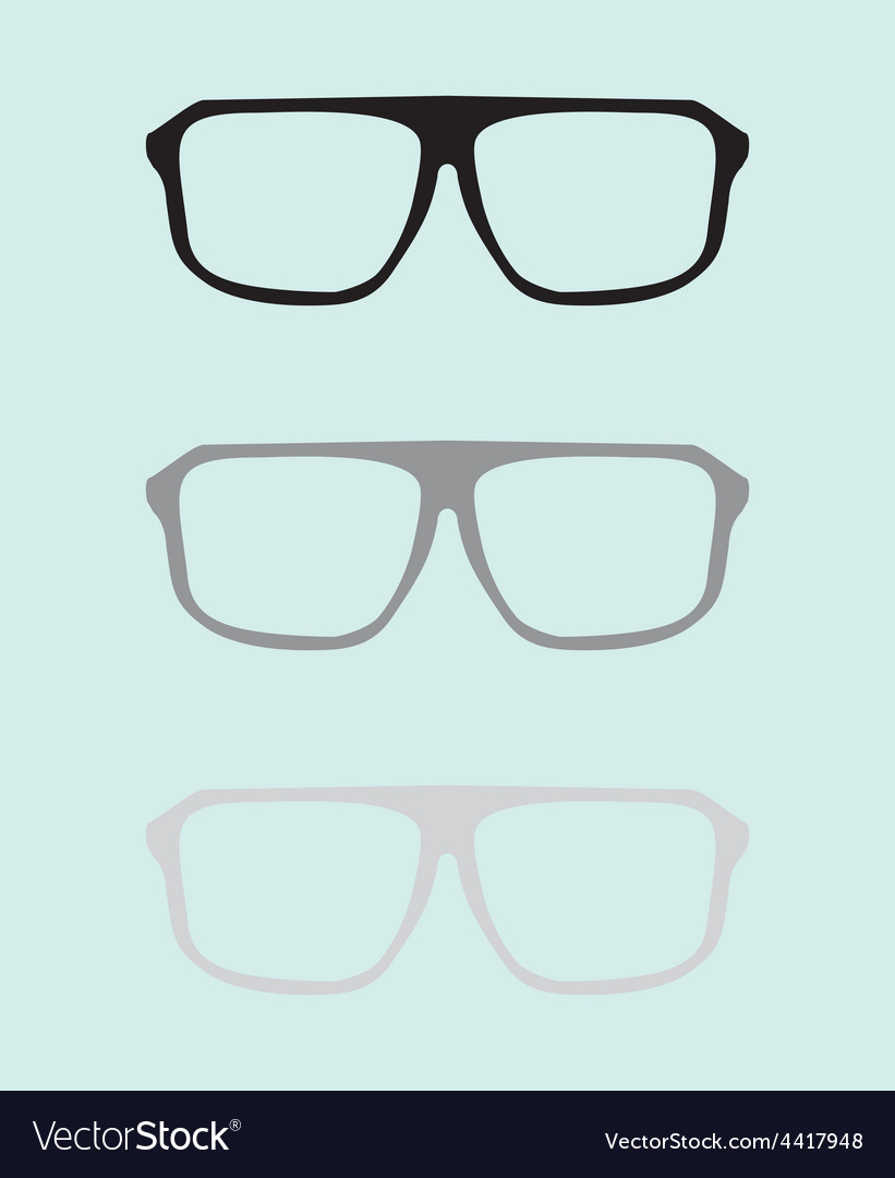 Teacher glasses black and grey on blue background vector image