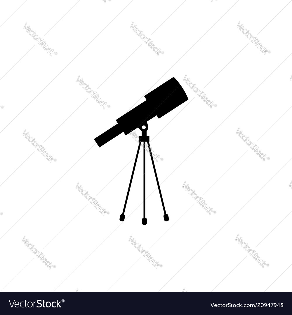telescope icon solid royalty free vector image telescope icon solid royalty free vector image
