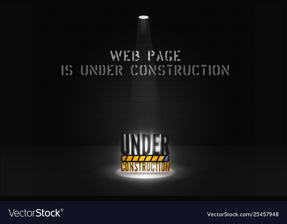 Web site banner is coming soon with floodlight on