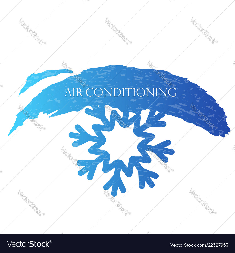 Air conditioning snowflake