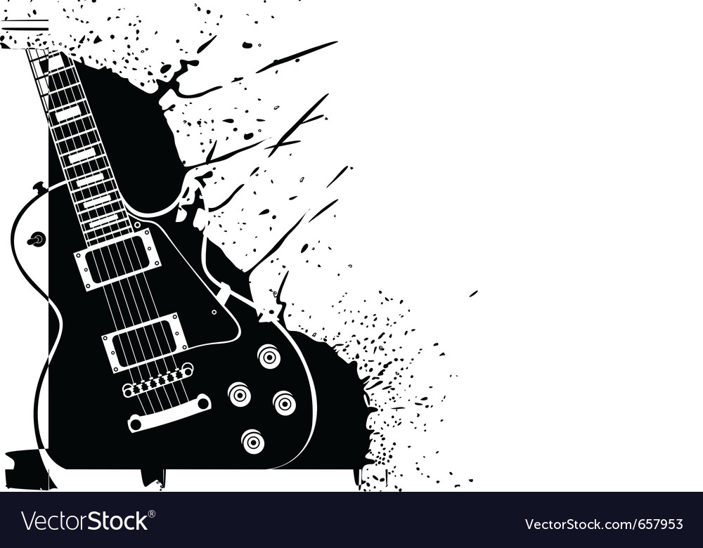 electric guitar royalty free vector image vectorstock rh vectorstock com electric guitar vector free electric guitar icon vector