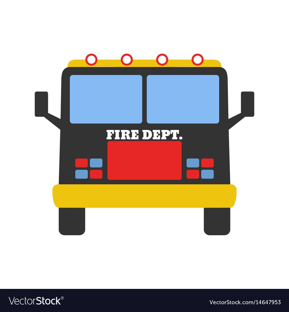 Fire car fire departament equipment icons