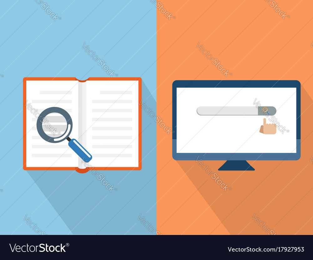 Search with book and computer