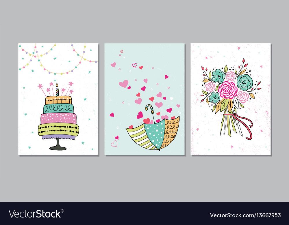 Set beautiful birthday love congratulation