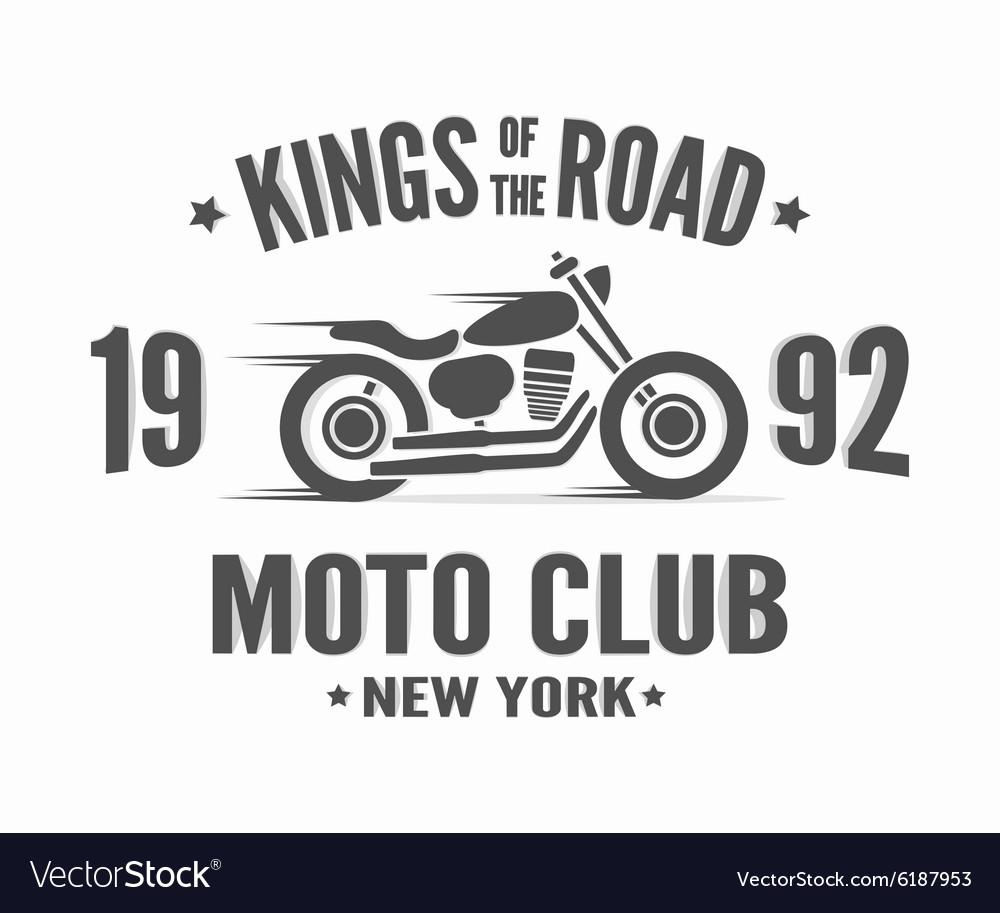 Vintage motorcycle label t-shirt design