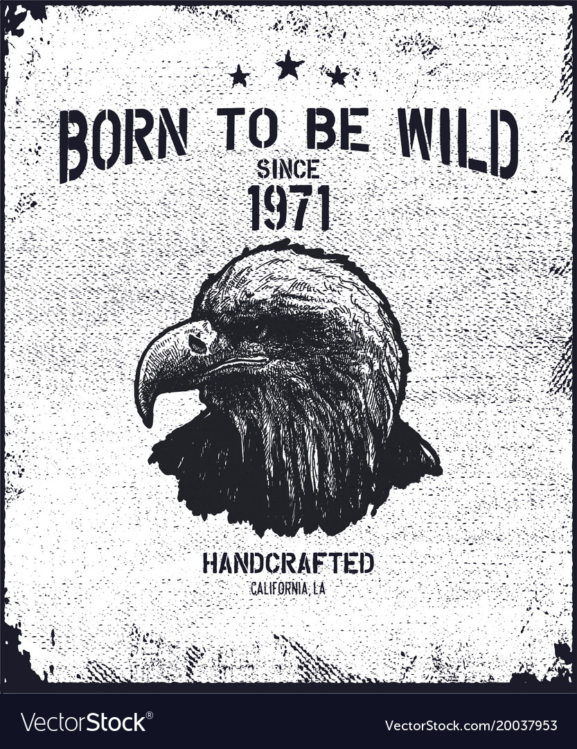 Vintage urban typography with eagle