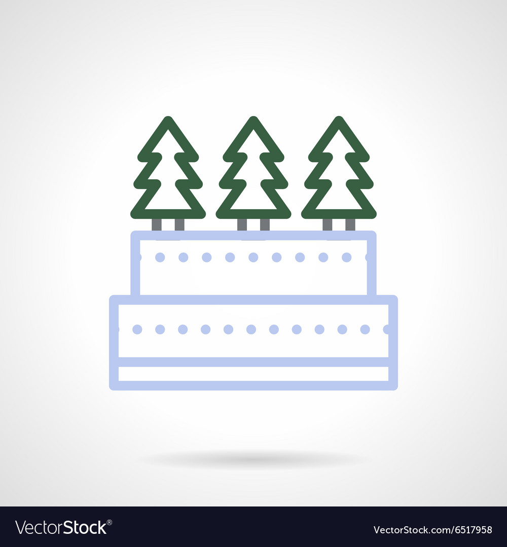Christmas sweets simple color line icon vector image