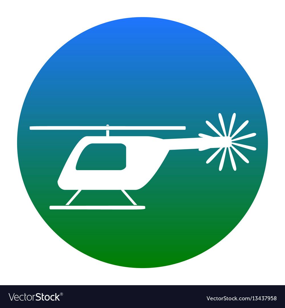 Helicopter sign white icon