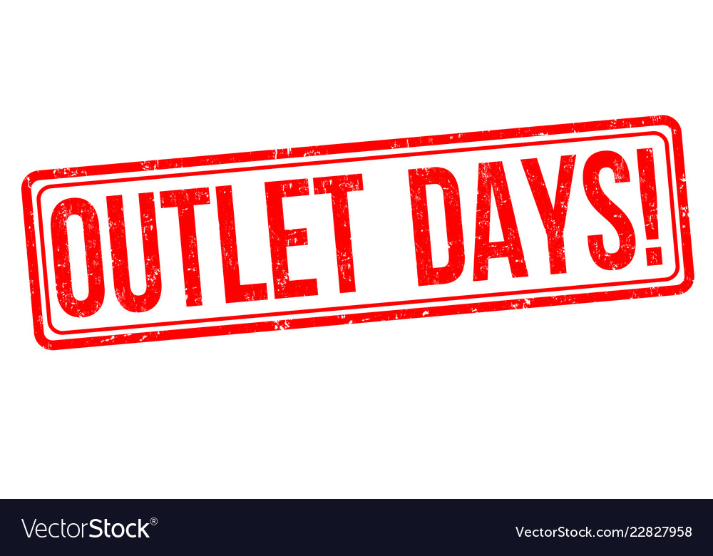 Outlet days sign or stamp vector image on VectorStock