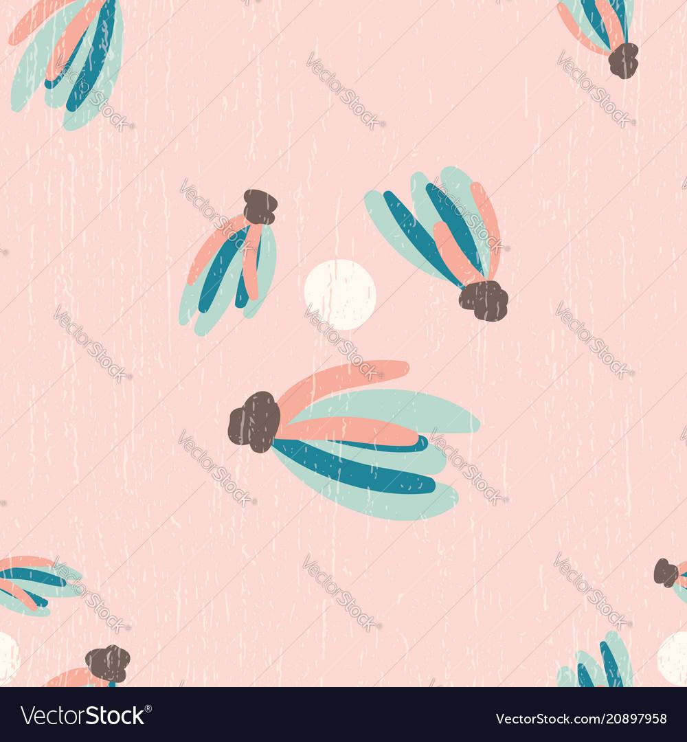 Pink distressed tassels seamless pattern