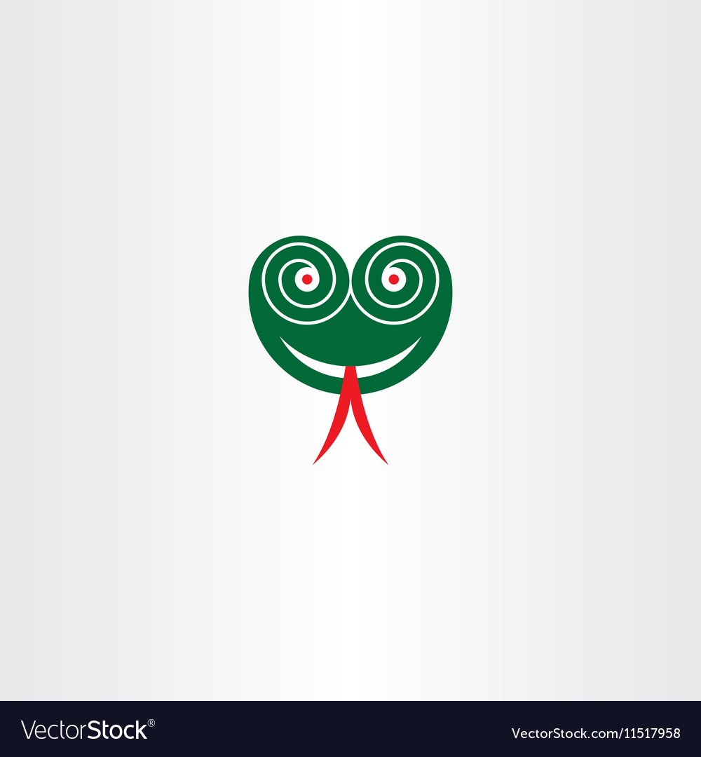 Scary Snake Head With Hypnotized Eyes Icon Vector Image