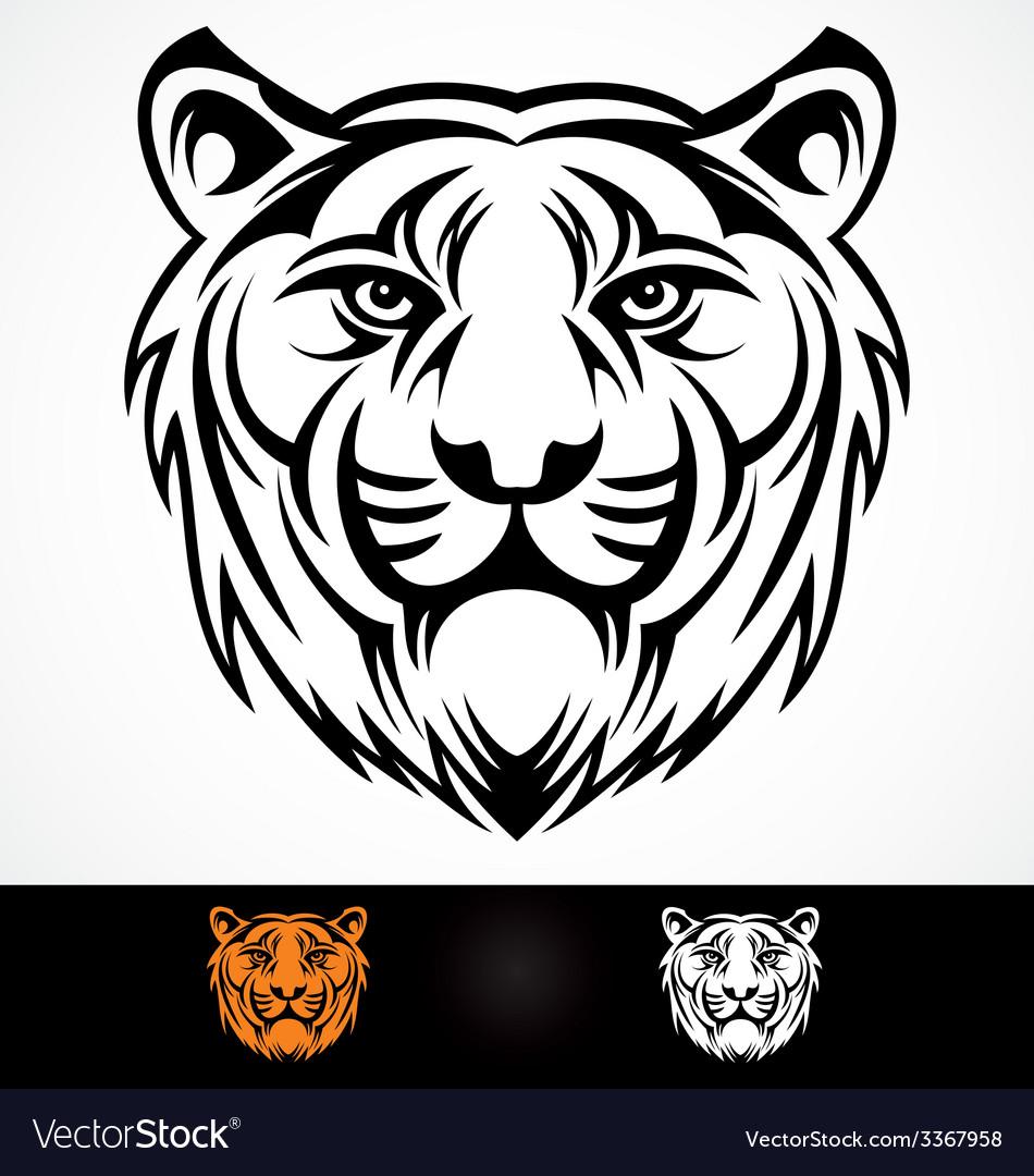 Tiger Head Mascot vector image