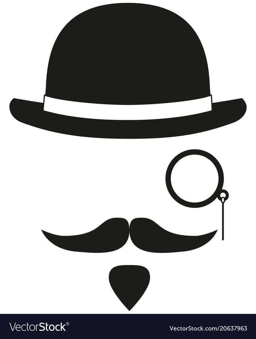 Black and white hipster avatar silhouette elements vector image