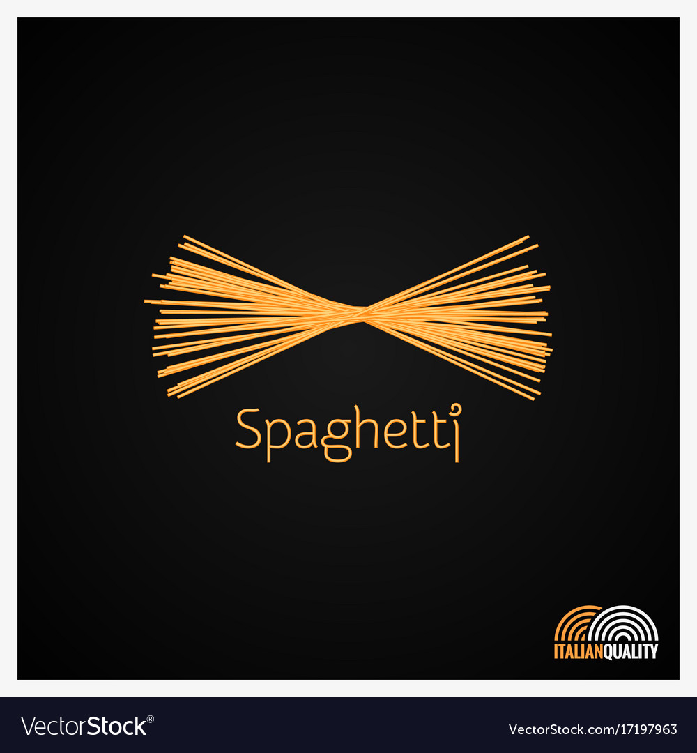 Spaghetti pasta logo design background