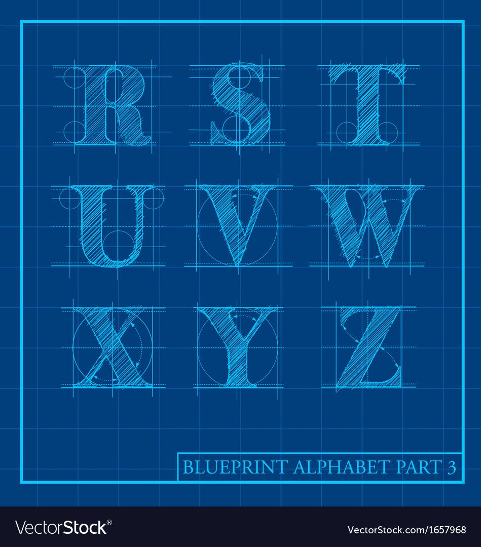 Blueprint style alphabet set 3 royalty free vector image blueprint style alphabet set 3 vector image malvernweather Choice Image