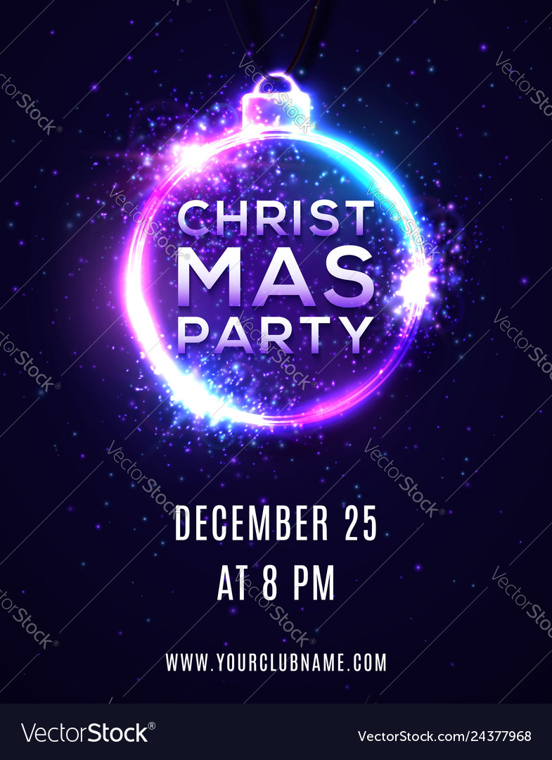 Christmas party background poster template