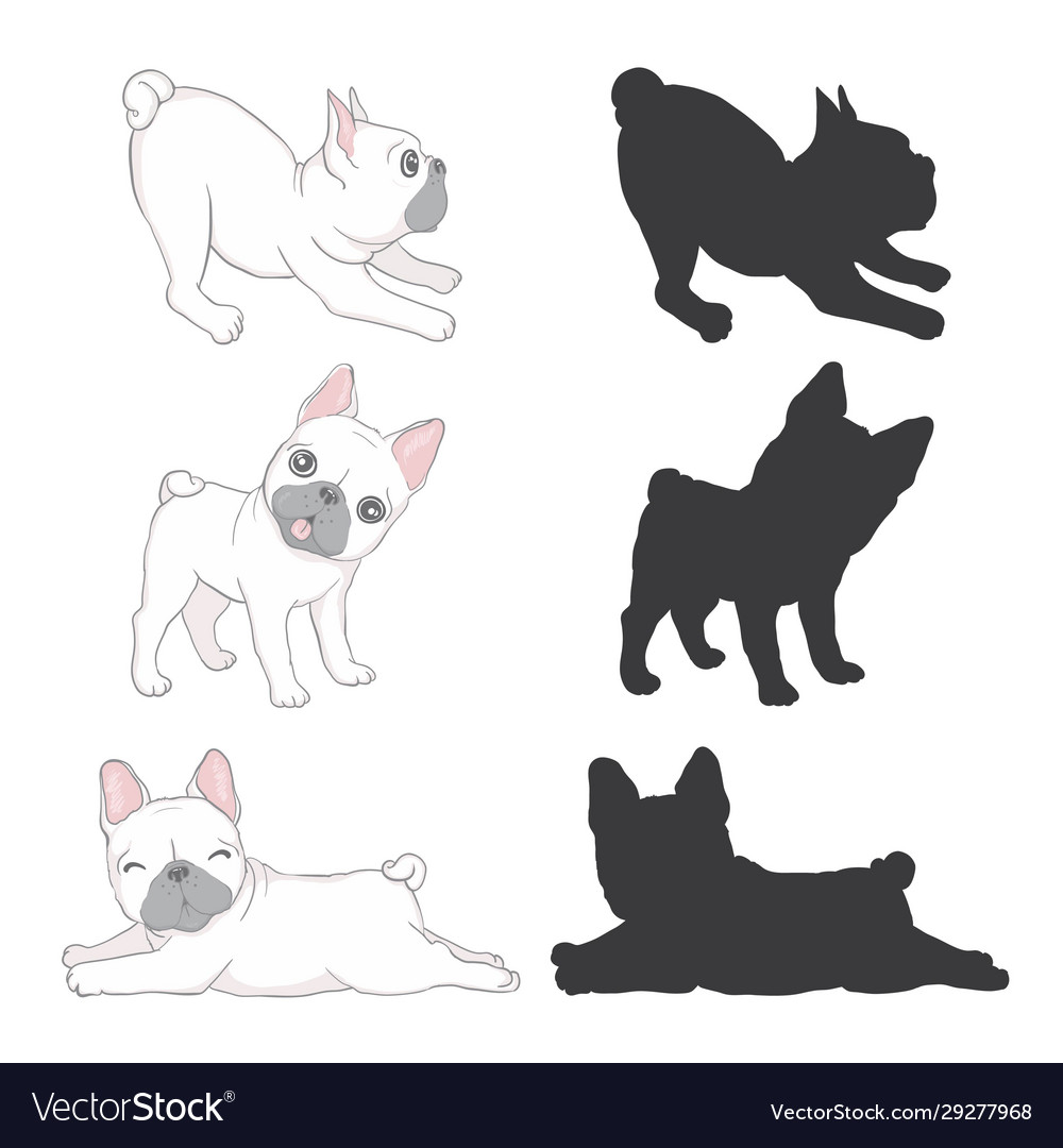 Cute French Bulldog Puppy Feel Adorable And Funny Vector Image