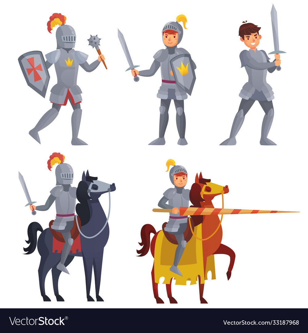 Medieval khight holding sword royal knight
