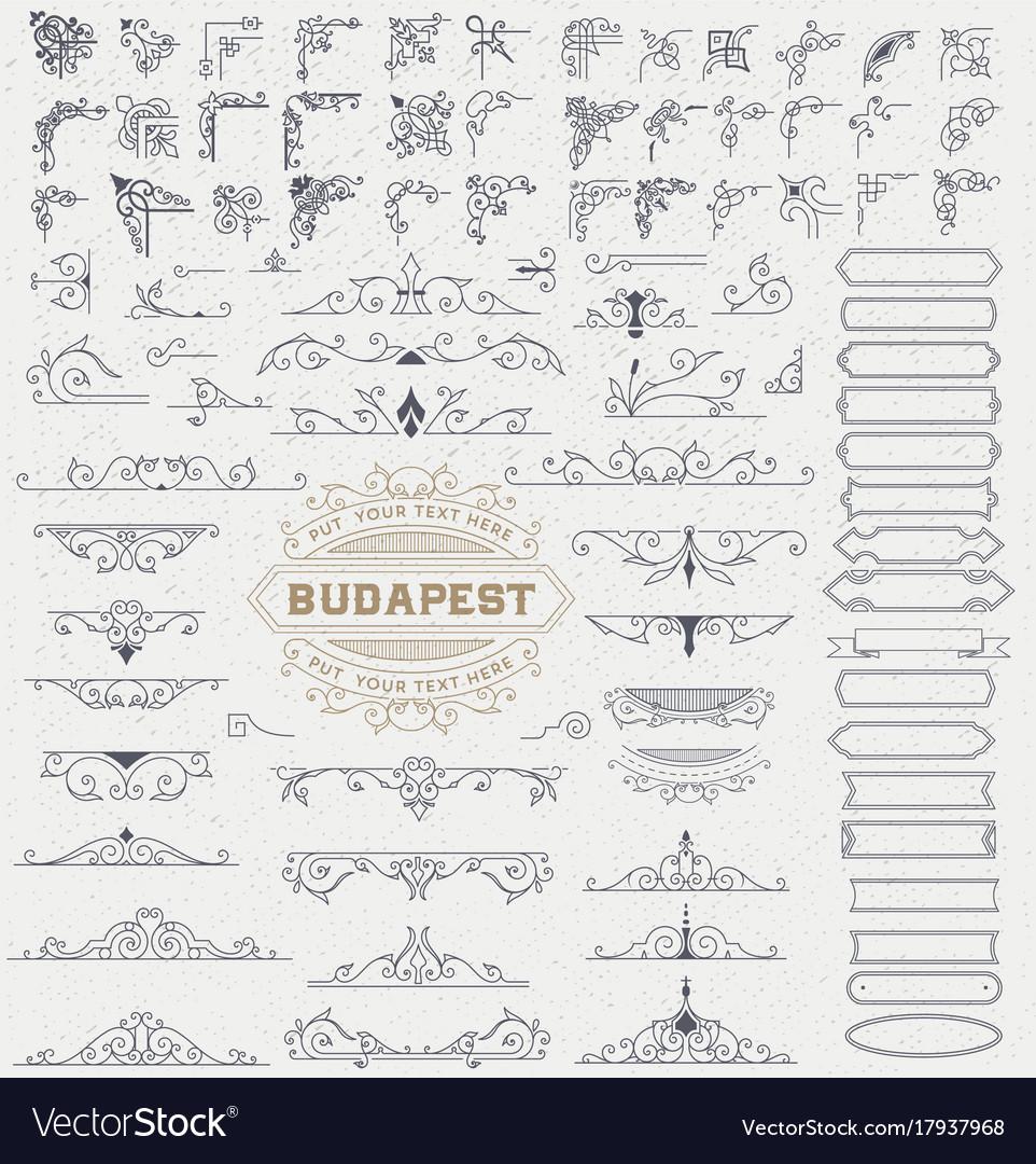 Mega kit of vintage elements for invitations