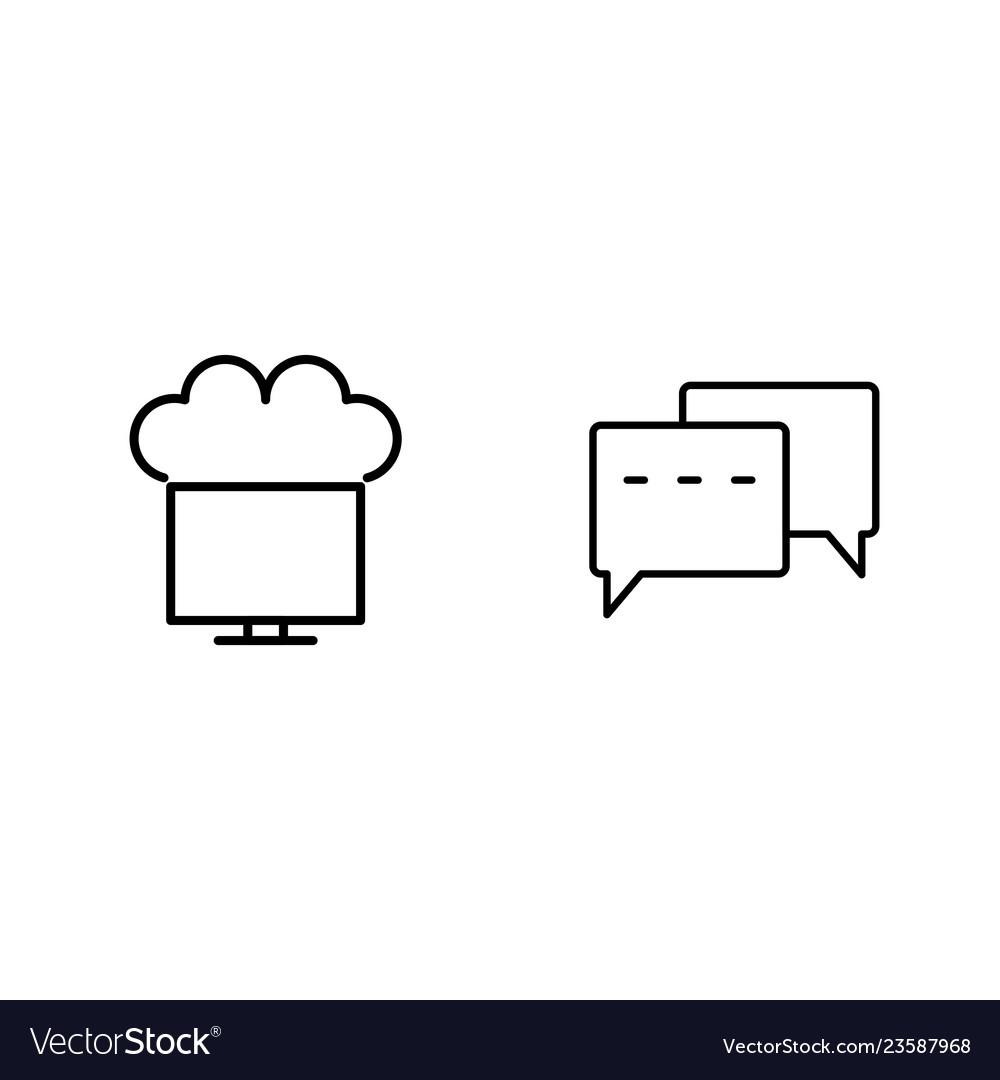 Set of seo search engine optimization icons