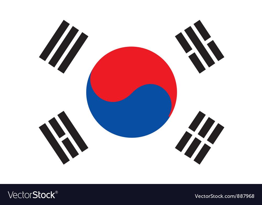 south korea flag royalty free vector image vectorstock rh vectorstock com korean flag vector art korean flag vector free download