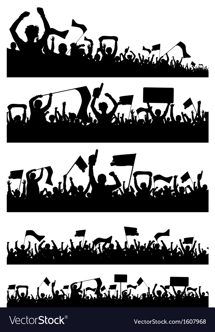 Sport Fans Silhouettes vector image