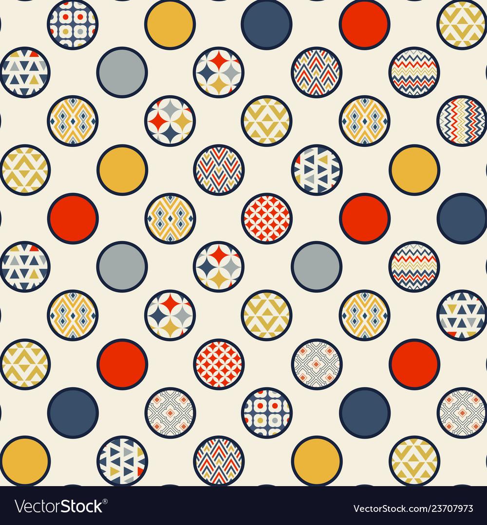 Abstract seamless pattern circles