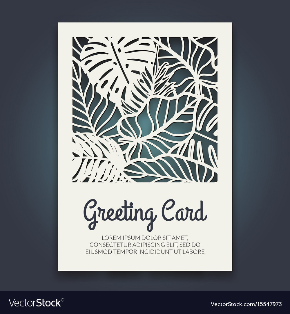 Beautiful card with palm tree leaves