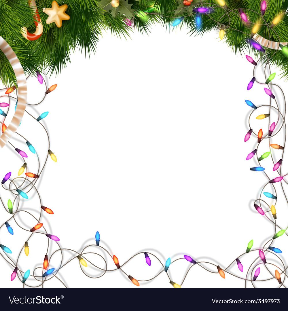 Color Christmas light bulbs on white EPS 10