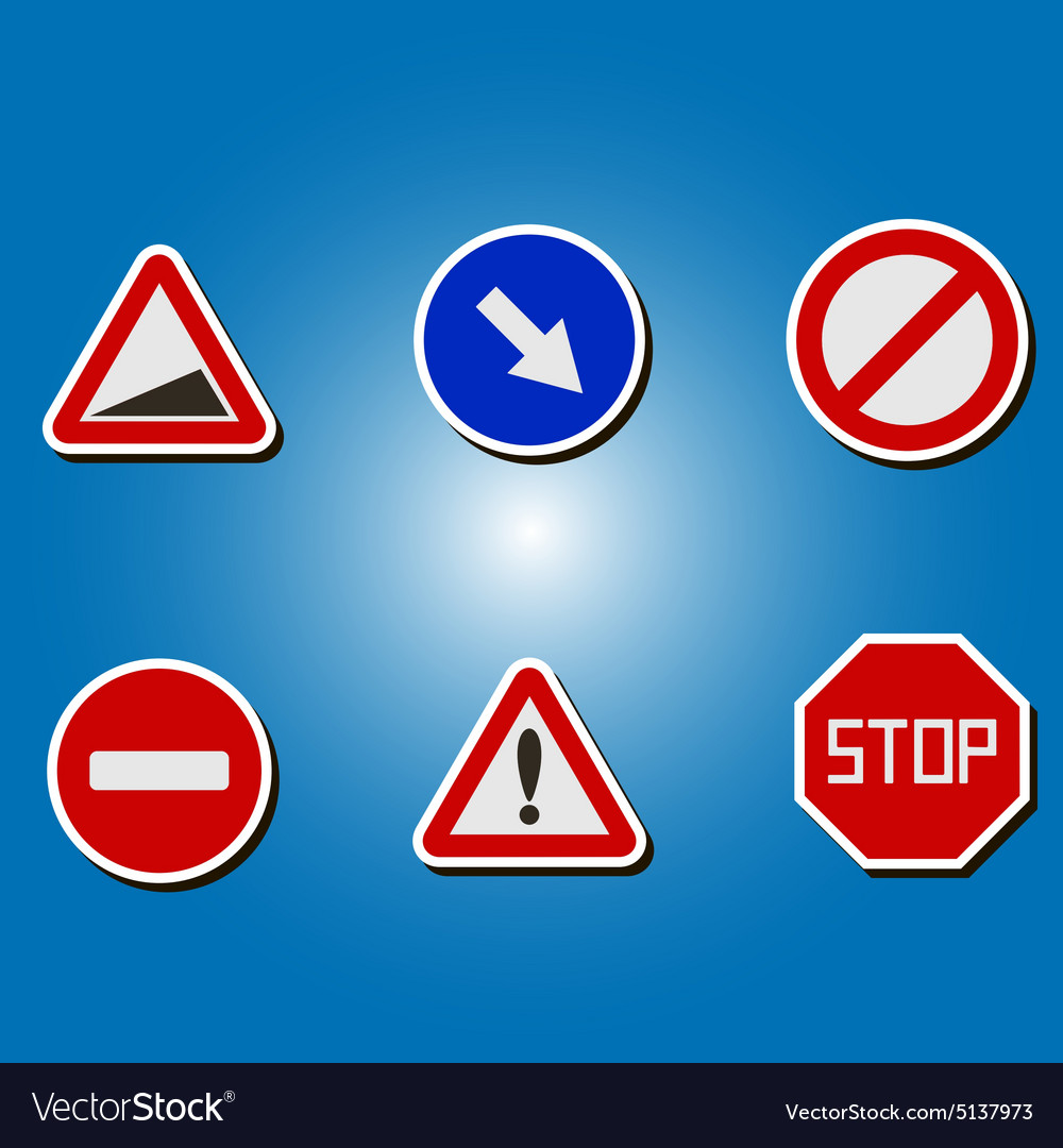 Color icons with traffic signs