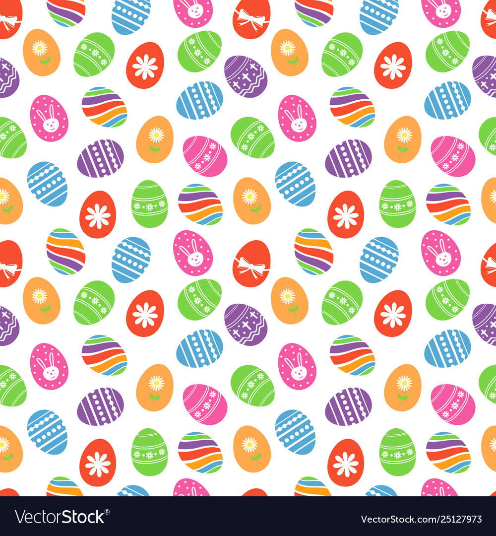 Easter eggs seamless pattern easter holidays