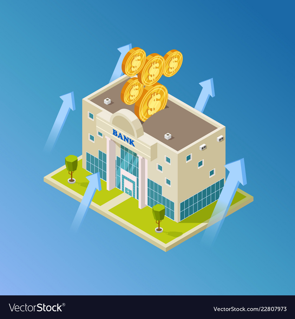 Financial business banking isometric