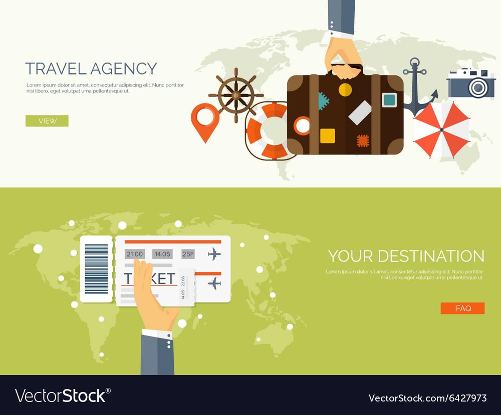 Flat travel background Map