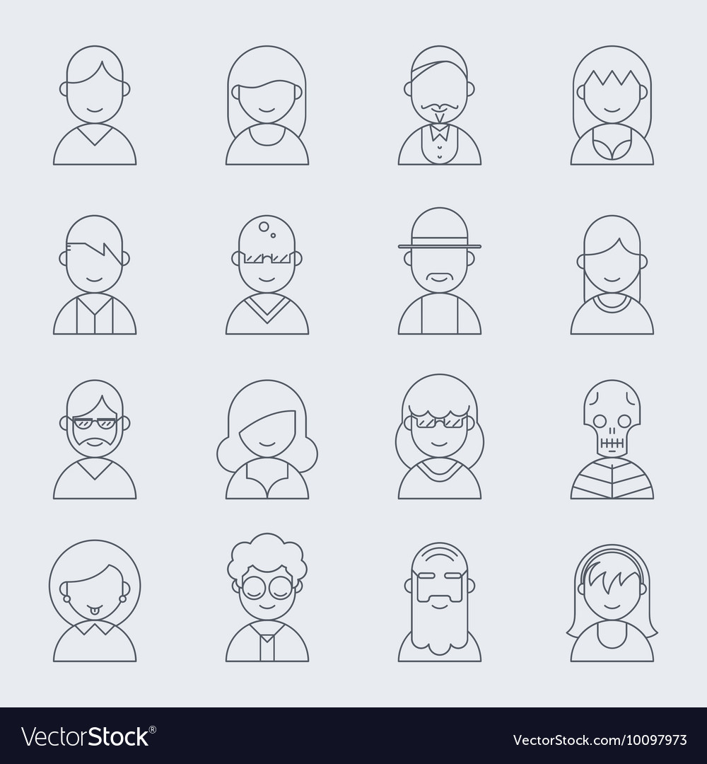 Line people icons