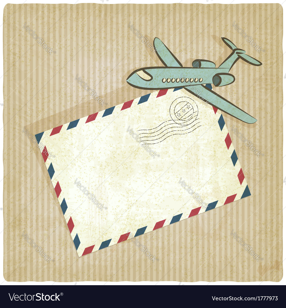 Retro background with plane