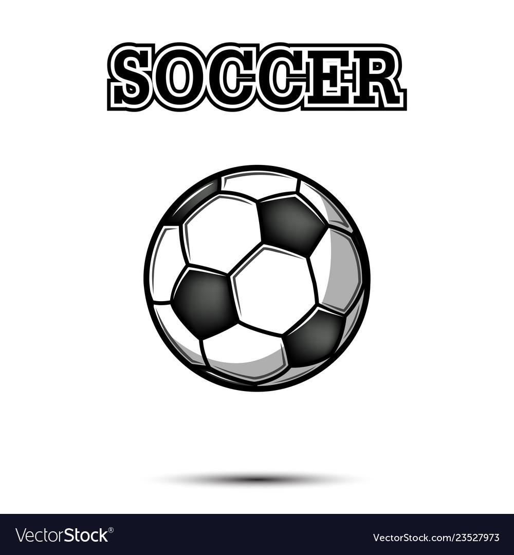 Vintage soccer ball icon