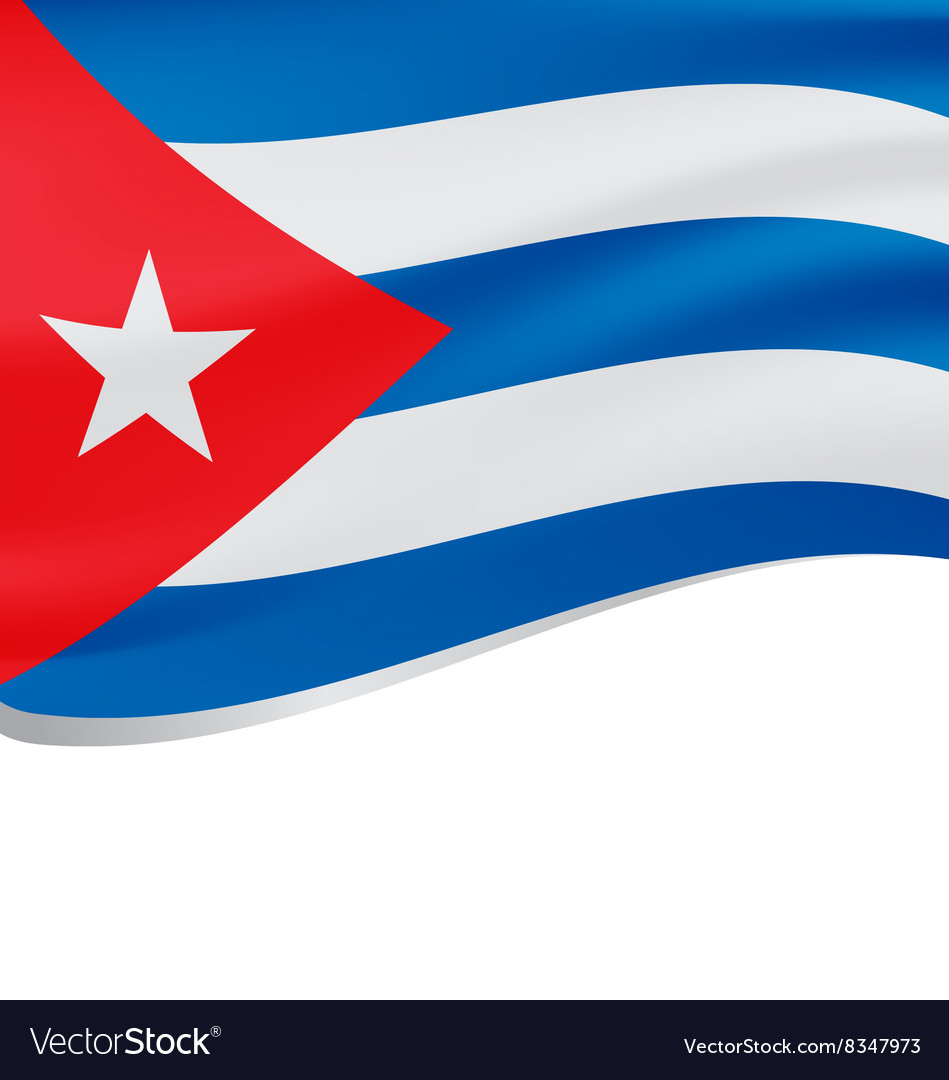 Waving flag of Cuba isolated on white vector image