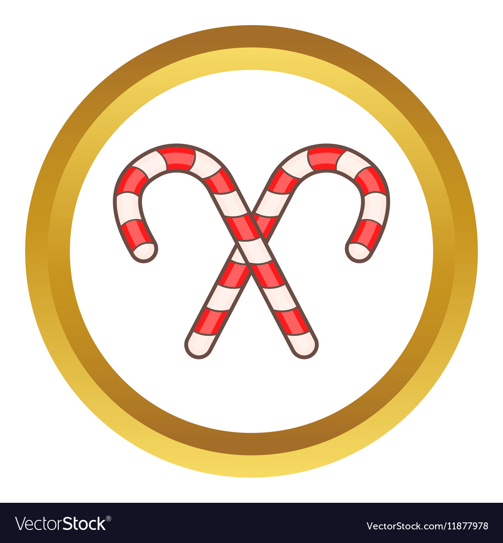 Candy canes for Christmas icon vector image