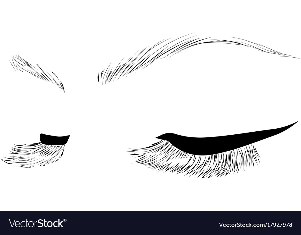 closed eyes drawing royalty free vector image vectorstock