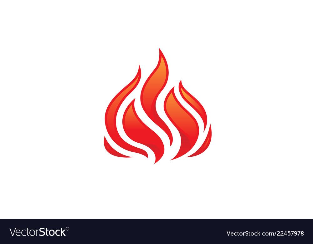 Flaming fire logo