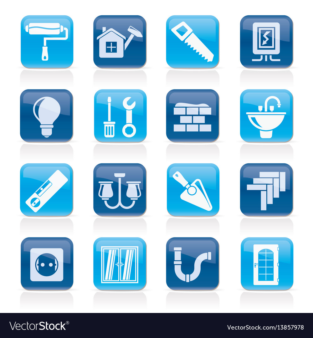 Home repair and renovation icons