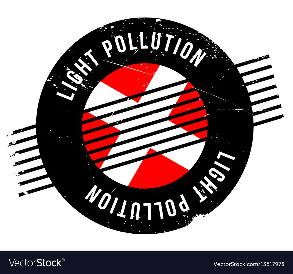 Light pollution rubber stamp vector image