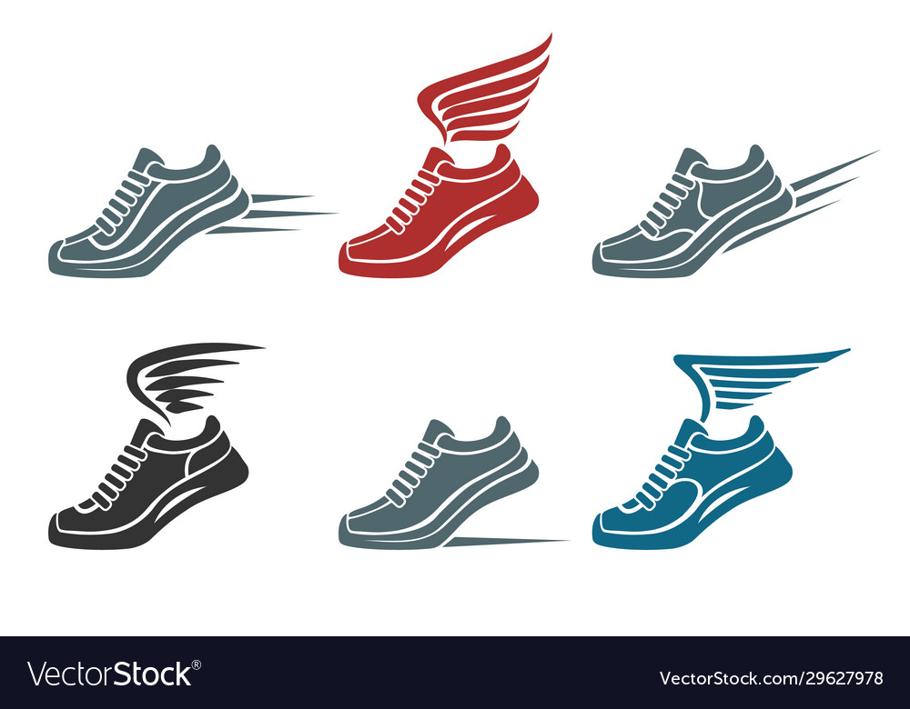 Sport shoes emblem set