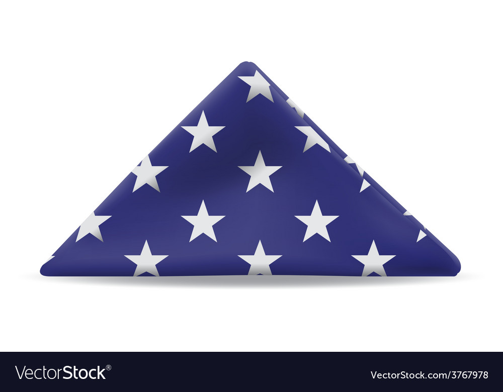 US Flag Folded vector image