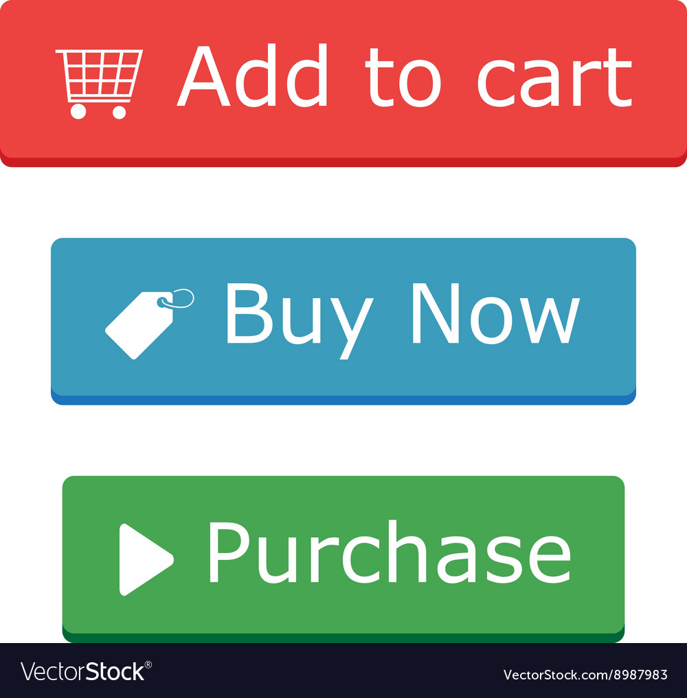 1a1505e99 Add to cart buy now and Purchase buttons Vector Image