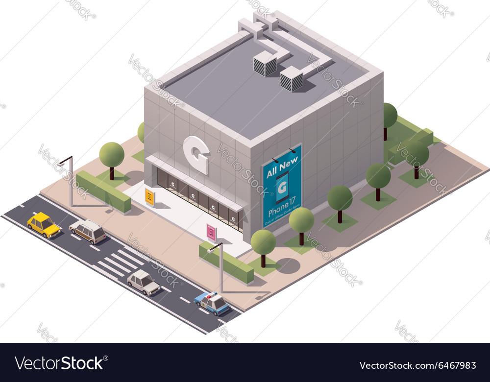 Isometric gadget shop